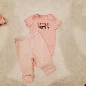 4for$20!! 2pc bodysuit/pants set for baby
